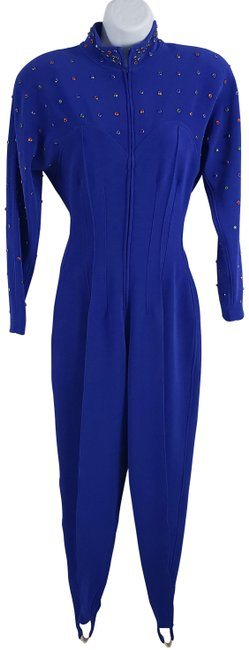 Preload https://img-static.tradesy.com/item/25684256/lillie-rubin-blue-vintage-70s-body-jumpsuit-beaded-pant-suit-size-8-m-0-1-650-650.jpg