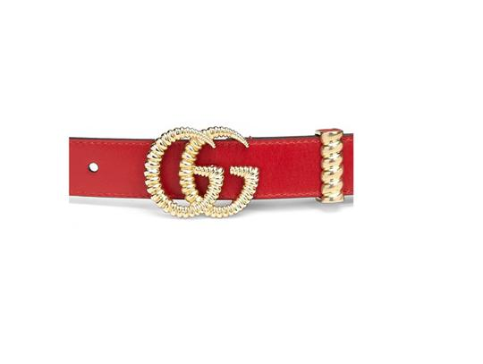 Gucci Gucci 'GG' Leather Logo Torchon Metal-Chain Belt Image 2
