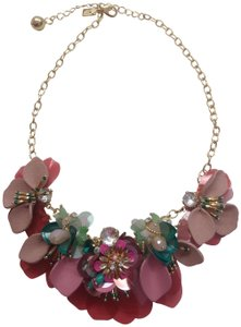 Kate Spade Kate Spade New Tan and Mauve Leather Floral Necklace