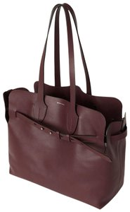 Burberry Leather Italian Tote in Deep Claret (Red)