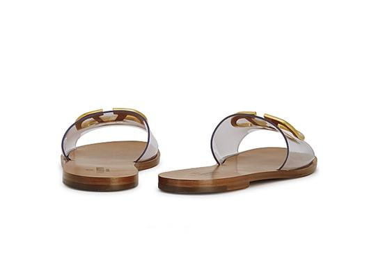 Valentino Transparent Brown Flats Image 2