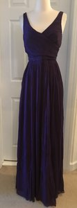J.Crew Eggplant Silk Heidi In Chiffon Gown Feminine Bridesmaid/Mob Dress Size 8 (M)