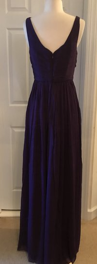 J.Crew Eggplant Silk Heidi In Chiffon Gown Feminine Bridesmaid/Mob Dress Size 8 (M) Image 1