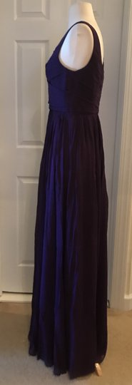 J.Crew Eggplant Silk Heidi In Chiffon Gown Feminine Bridesmaid/Mob Dress Size 8 (M) Image 2