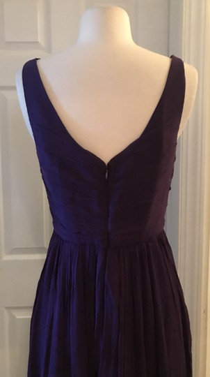 J.Crew Eggplant Silk Heidi In Chiffon Gown Feminine Bridesmaid/Mob Dress Size 8 (M) Image 5