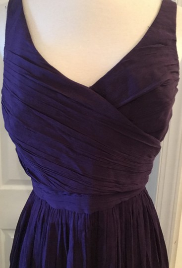J.Crew Eggplant Silk Heidi In Chiffon Gown Feminine Bridesmaid/Mob Dress Size 8 (M) Image 6