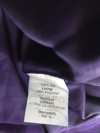 J.Crew Eggplant Silk Heidi In Chiffon Gown Feminine Bridesmaid/Mob Dress Size 8 (M) Image 7