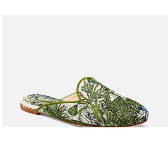 Dior Green Blue Multicolored Mules Image 2