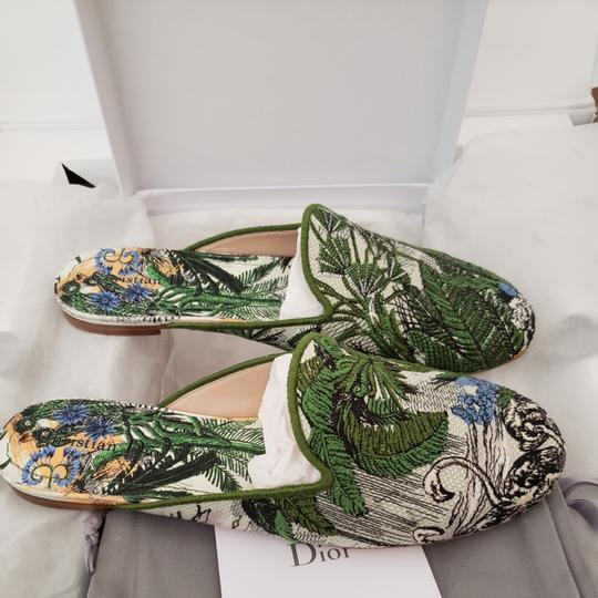 Dior Green Blue Multicolored Mules Image 9