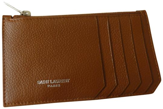 Preload https://img-static.tradesy.com/item/25684436/saint-laurent-brown-fragments-grained-leather-logo-card-case-wallet-0-1-540-540.jpg