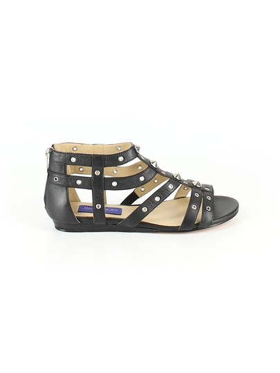 Jimmy Choo Studded Gladiator Strappy Black Sandals Image 1