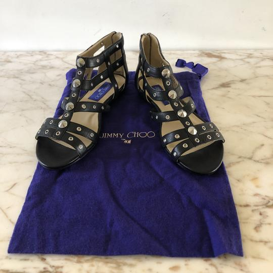 Jimmy Choo Studded Gladiator Strappy Black Sandals Image 6