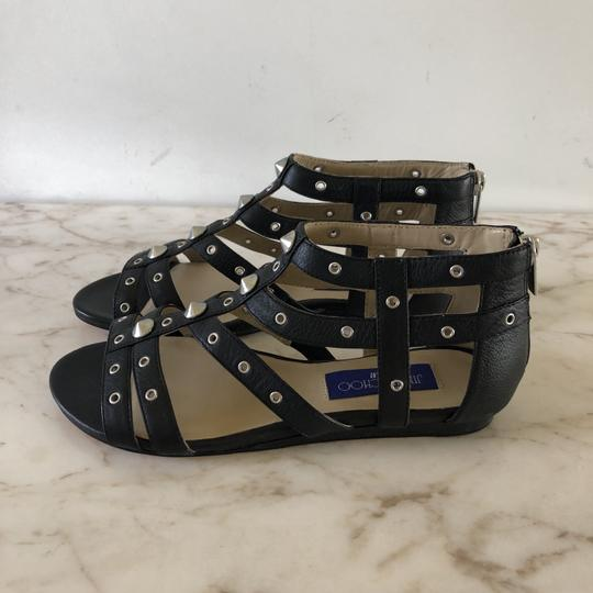 Jimmy Choo Studded Gladiator Strappy Black Sandals Image 8