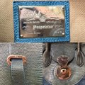 Ralph Lauren Collection Ricky 40 Blue Genuine Lizard Skin & Distressed Denim Tote Ralph Lauren Collection Ricky 40 Blue Genuine Lizard Skin & Distressed Denim Tote Image 11