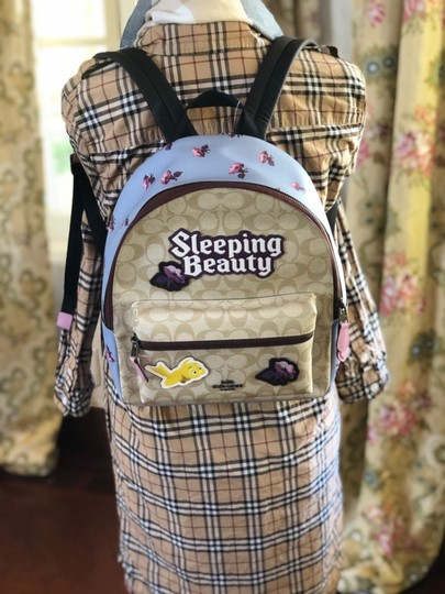 Coach Floral Vintage Style Disney Sleeping Beauty Backpack Image 2