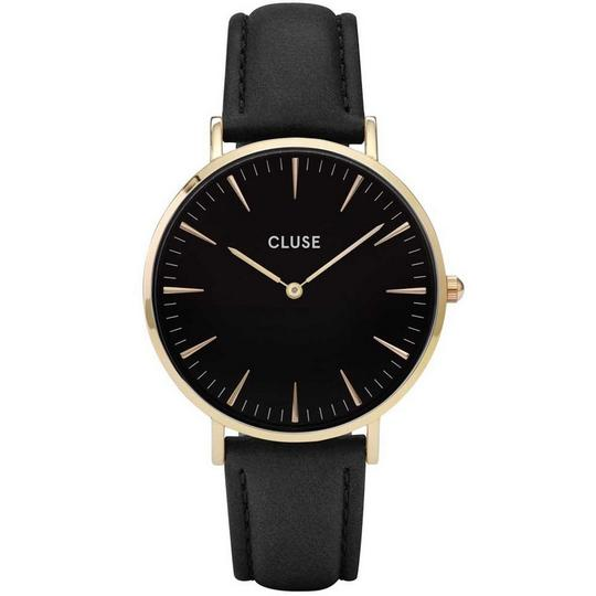 Cluse CL18401 Boheme Women's Black Leather Band With Black Analog Dial Watch Image 1