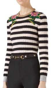 Gucci Cashmere Wool Embroidered Sweater