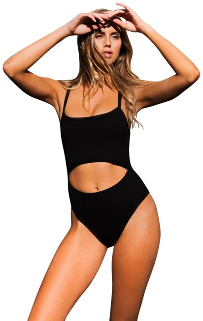 Preload https://img-static.tradesy.com/item/25684609/black-carnation-cut-out-swimsuit-one-piece-bathing-suit-size-2-xs-0-1-650-650.jpg