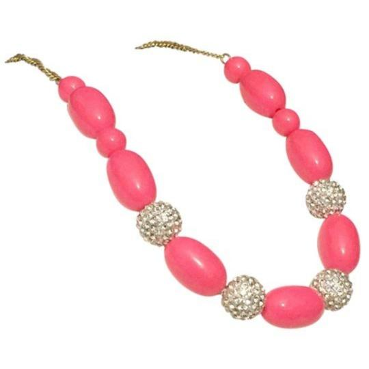 Preload https://item5.tradesy.com/images/jcrew-hot-pink-gold-tone-and-rhinestone-necklace-25684624-0-0.jpg?width=440&height=440