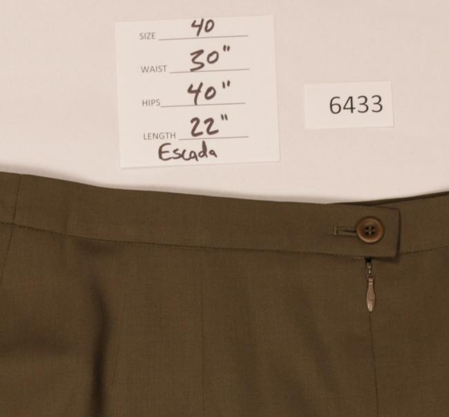 Escada Wool Pleated Skirt Gold Brown Image 1