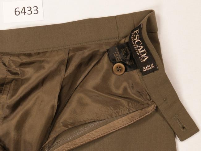 Escada Wool Pleated Skirt Gold Brown Image 3