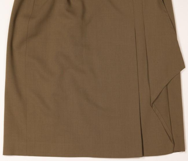 Escada Wool Pleated Skirt Gold Brown Image 6