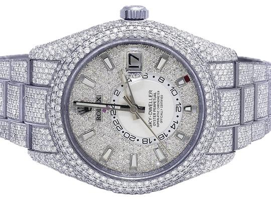 Preload https://img-static.tradesy.com/item/25684652/rolex-mens-stainless-steel-sky-dweller-326934-42mm-honeycomb-diamond-2975-ct-watch-0-1-540-540.jpg