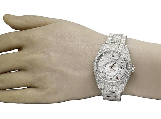 Rolex Sky Dweller 326934 42MM Stainless Steel Honeycomb Diamond 29.75 Ct Image 6