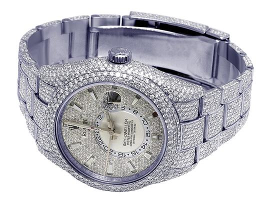 Rolex Sky Dweller 326934 42MM Stainless Steel Honeycomb Diamond 29.75 Ct Image 8