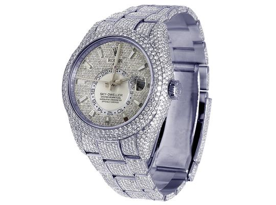 Rolex Sky Dweller 326934 42MM Stainless Steel Honeycomb Diamond 29.75 Ct Image 9