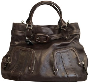 Cole Haan Leather Cross Body Textured Belted Shoulder Bag