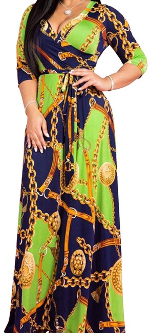 Preload https://img-static.tradesy.com/item/25684718/green-and-gold-long-casual-maxi-dress-size-12-l-0-1-650-650.jpg