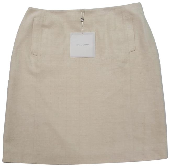 St. John Silk European Tweed Skirt off-white Image 0