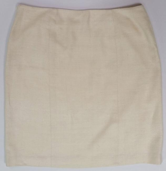 St. John Silk European Tweed Skirt off-white Image 1