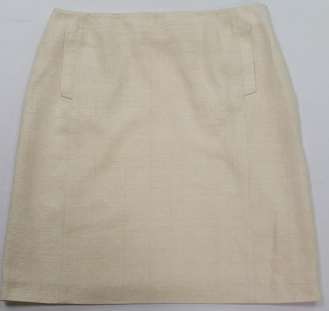 St. John Silk European Tweed Skirt off-white Image 11
