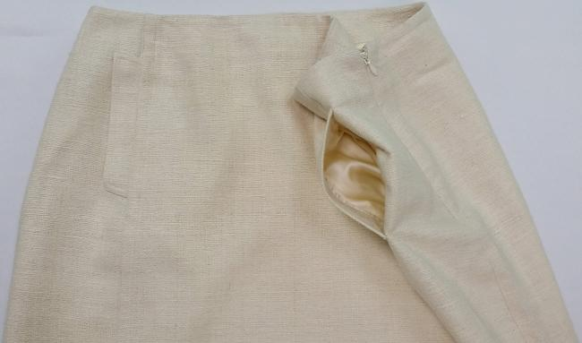 St. John Silk European Tweed Skirt off-white Image 6