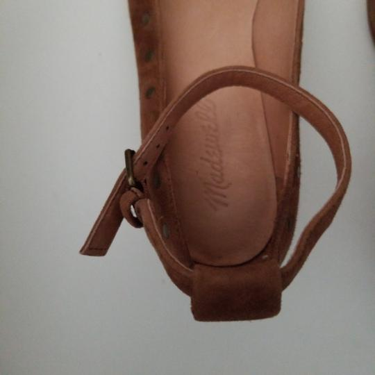Madewell camel nubuck leather ballerina with ankle closing Formal Image 3
