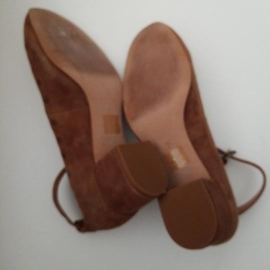 Madewell camel nubuck leather ballerina with ankle closing Formal Image 4