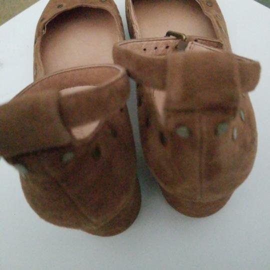 Madewell camel nubuck leather ballerina with ankle closing Formal Image 6