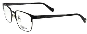 Lucky Brand D300-BLACK-53 Mens Rectangle Black Frame Clear Lens Genuine Eyeglasses