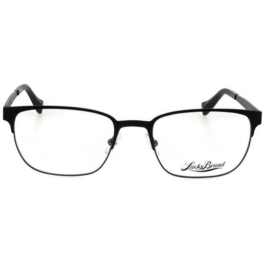 Lucky Brand D300-BLACK-53 Mens Rectangle Black Frame Clear Lens Genuine Eyeglasses Image 1