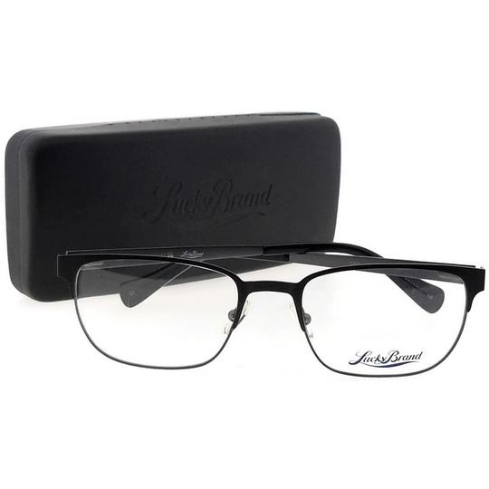 Lucky Brand D300-BLACK-53 Mens Rectangle Black Frame Clear Lens Genuine Eyeglasses Image 4