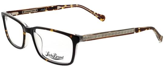 Lucky Brand BEACHFRONT-TORTOISE-52 Rectangle Tortoise Frame Clear Lens Eyeglasses Image 0