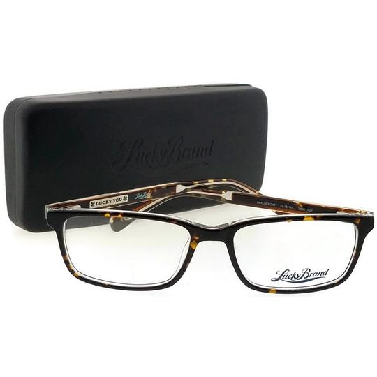 Lucky Brand BEACHFRONT-TORTOISE-52 Rectangle Tortoise Frame Clear Lens Eyeglasses Image 4