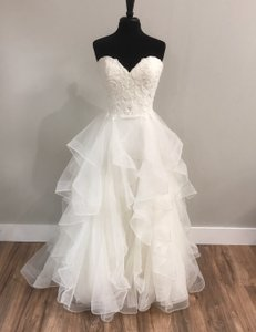 Maggie Sottero Ivory Rebecca Ingram By 7897 Traditional Wedding Dress Size 10 (M)