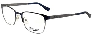 Lucky Brand D300-NAVY-53 Men's Rectangle Navy Frame Demo Lens Genuine Eyeglasses