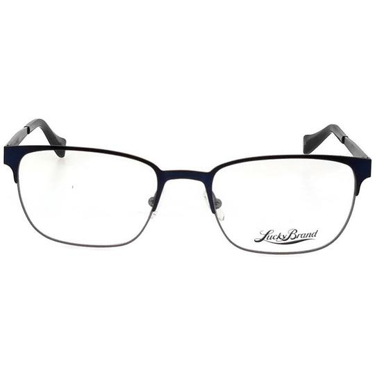 Lucky Brand D300-NAVY-53 Men's Rectangle Navy Frame Demo Lens Genuine Eyeglasses Image 1