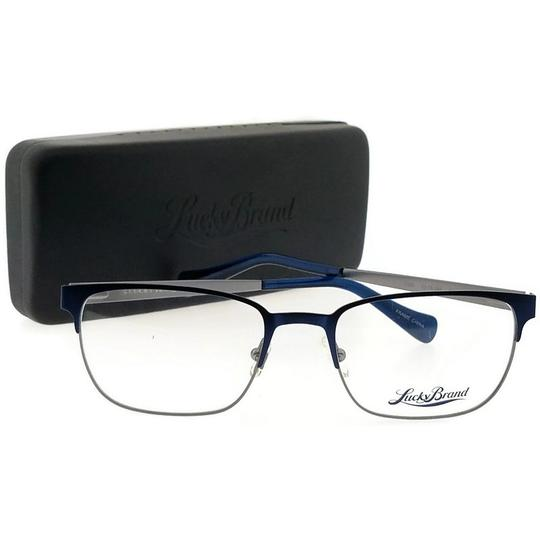 Lucky Brand D300-NAVY-53 Men's Rectangle Navy Frame Demo Lens Genuine Eyeglasses Image 4