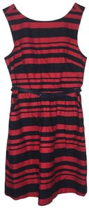 The Limited short dress navy blue/red on Tradesy