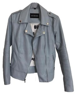 Guess light blue Leather Jacket